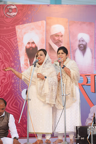 Leena Ji and Lata Ji presented geet Godhra GJ