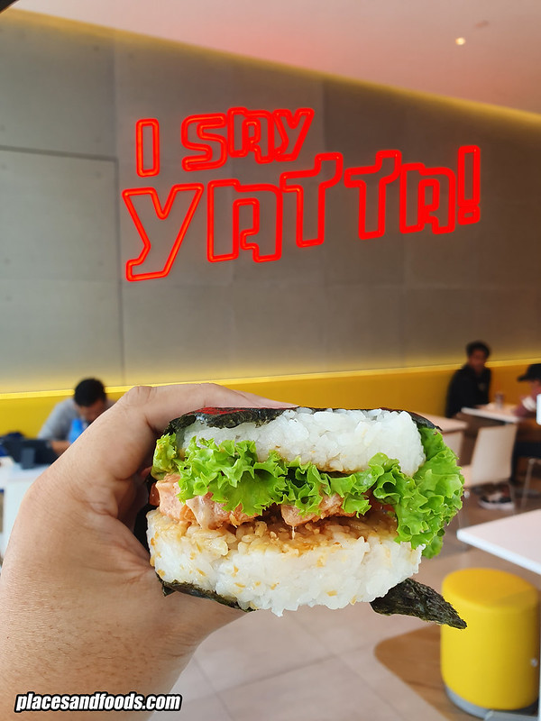 i say yatta central i city salmon burger