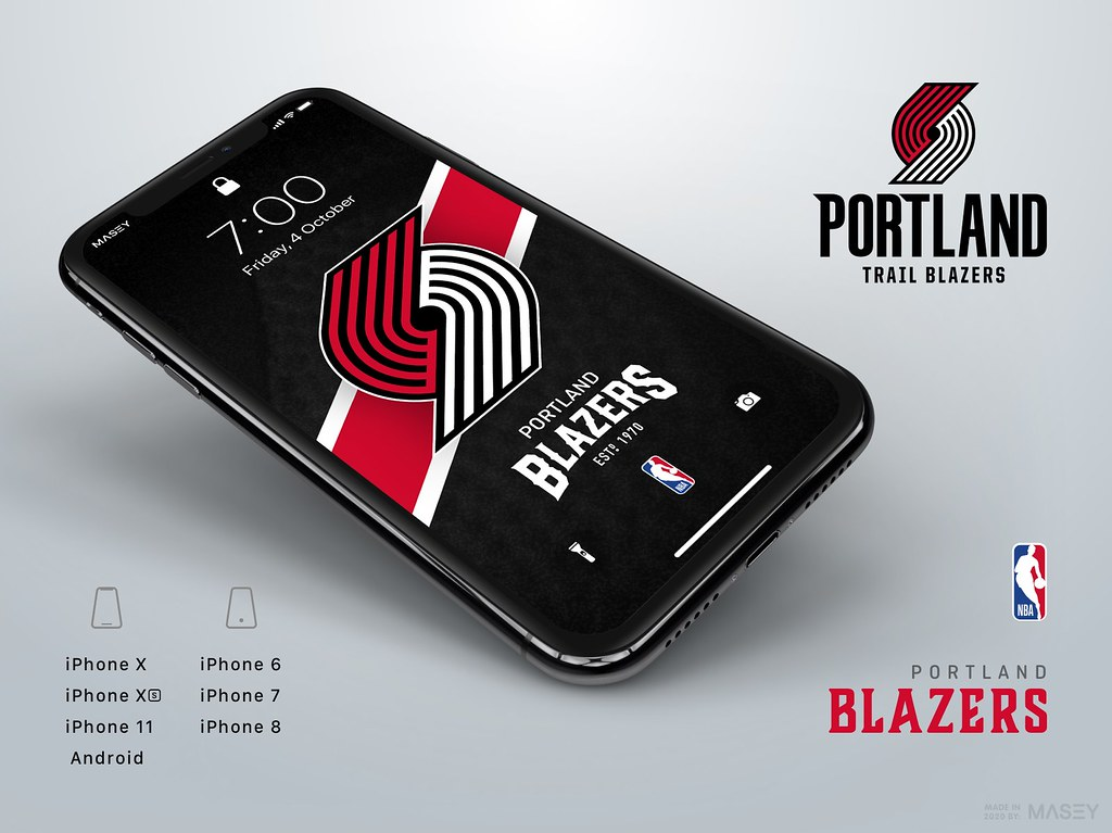 Portland Trail Blazers iPhone Wallpaper
