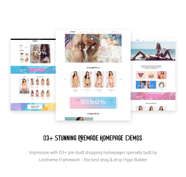 03+ Stunning Premade Homepage Demos