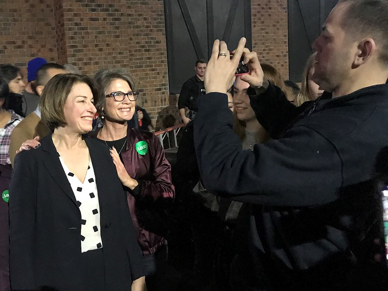 Amy Klobuchar Event in Des Moines, Feb. 2, 2020 - 2020 Iowa Caucus