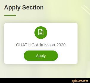 OUAT 2020 application form