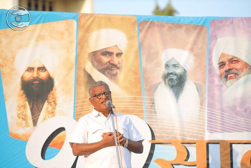 Himat Bhai Ji presented Gujarati speech