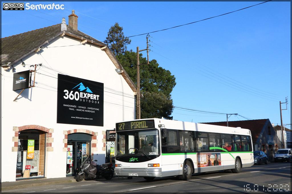 Heuliez Bus GX 317 – Voyages Quérard (Groupe Fast, Financière Atlantique de Services et de Transports) / TAN (Transports en commun de l'Agglomération Nantaise) n°2029 ex Semitan n°118