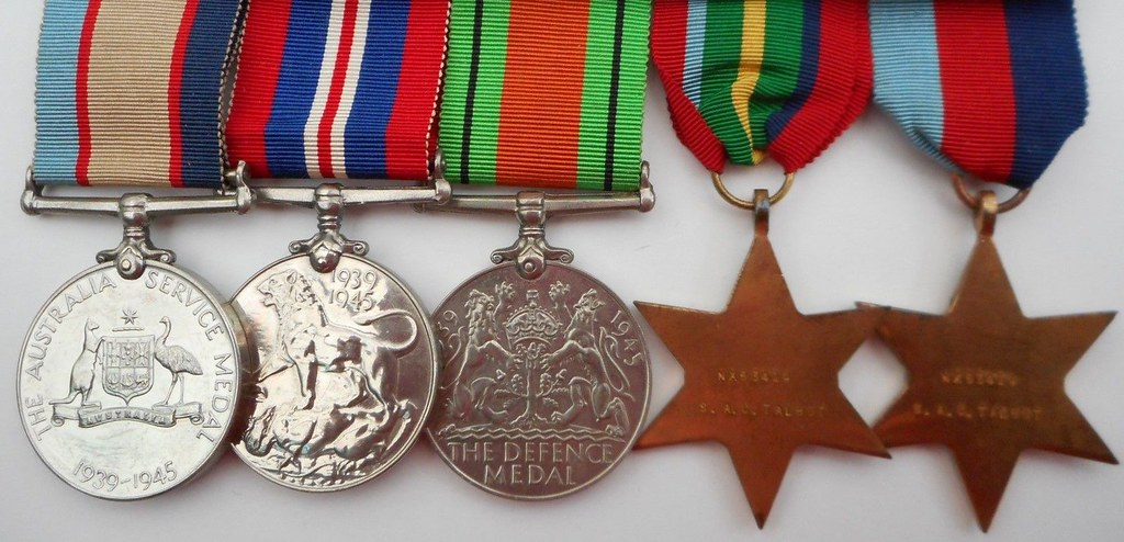 WW2 medals for Stanley Alfred Charles Talbot NX53419