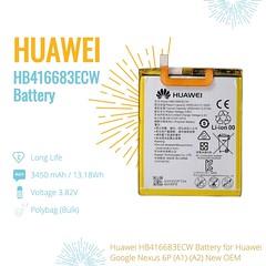 Huawei HB416683ECW Battery For Huawei Google Nexus 6P (A1)-(A2) New OEM