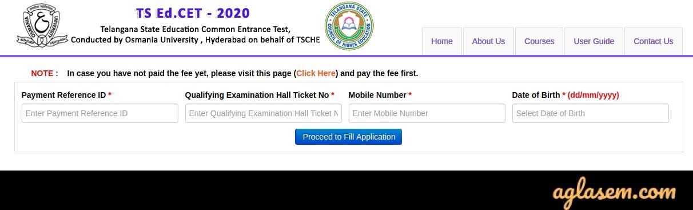 TS EDCET 2020 Form