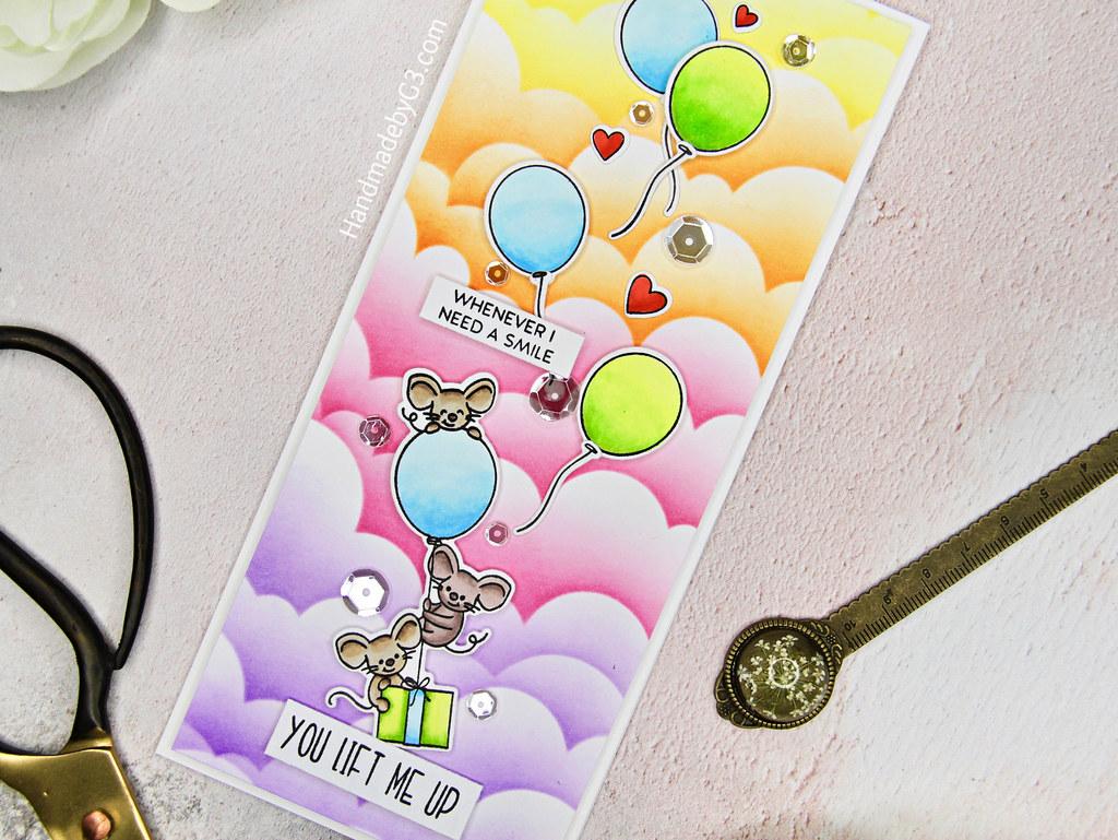 You Life Me Up card closeup