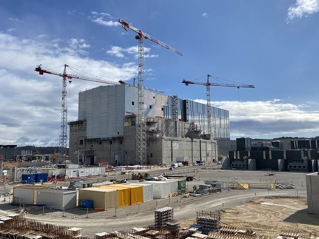 And the other side of the ITER Tokamak building with the the second layer of cladding starting to show. The edifice of the biggest fusion energy device in history is getting ready to house it. February 2020
