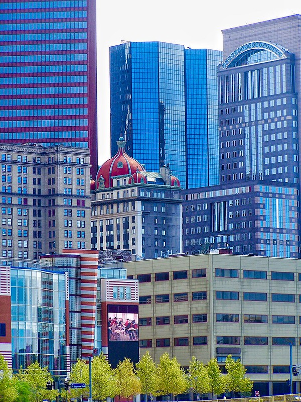 Pittsburgh Pennsylvania  -- AKA - The Keenan Building - Midtown Towers - Historic Red Dome Building