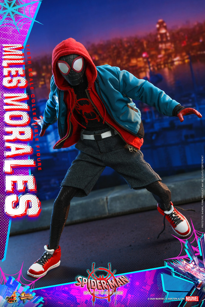 豐富的穿搭選擇令人期待! Hot Toys – MMS567 -《蜘蛛人:新宇宙》邁爾斯·摩拉斯 Miles Morales 1/6 比例人偶