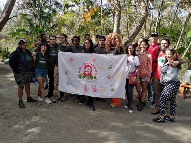 Visita de la Brigada Internacionalista Che Guevara a la Escuela Agroecológica Alí Rodríguez Araque