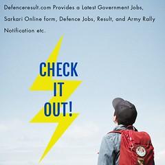 Defence result:Latest Government Defence Jobs, Sarkari Online form, result etc.