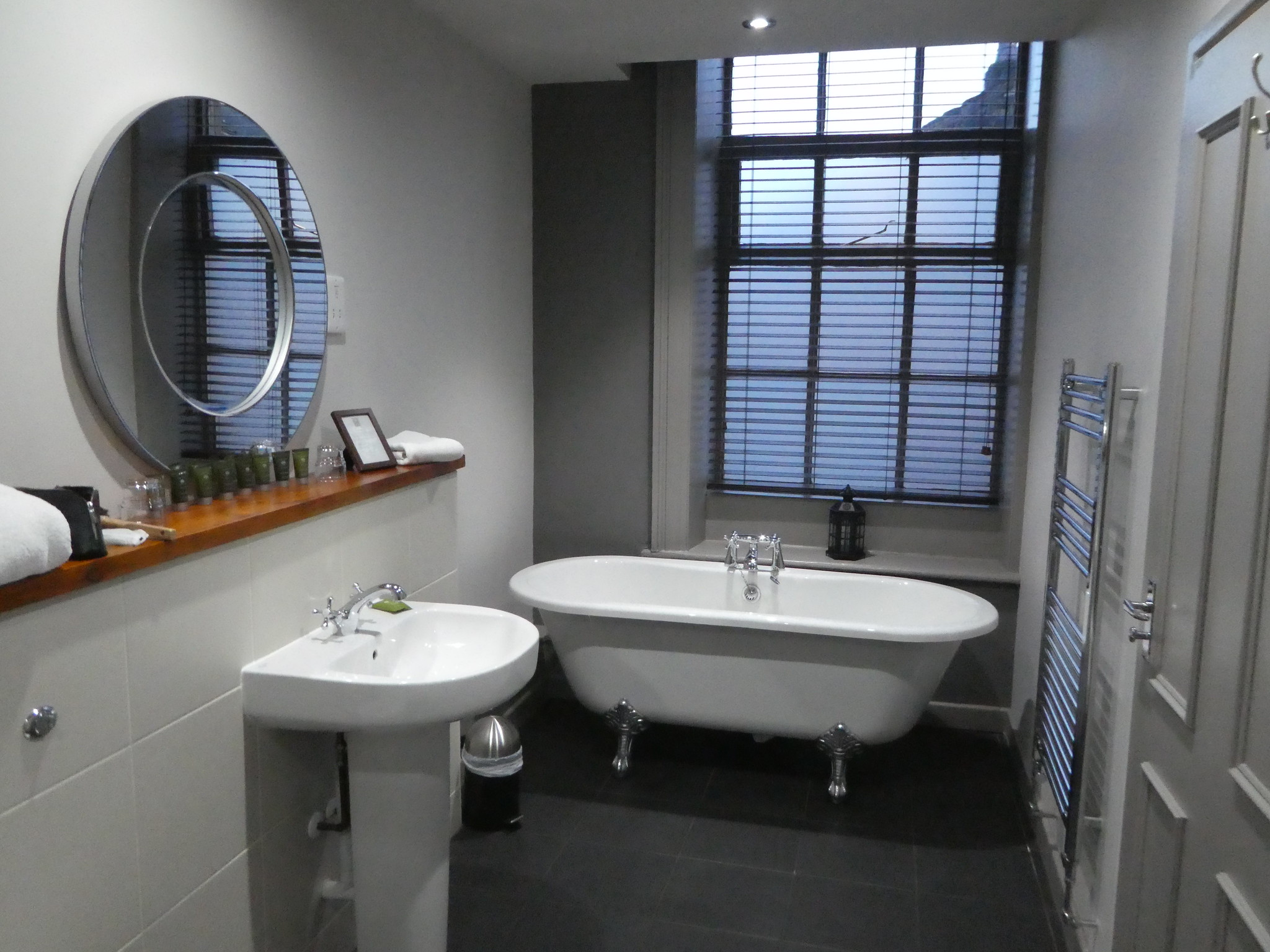Our stylish bathroom at the White Lion Hotel, Hebden Bridge