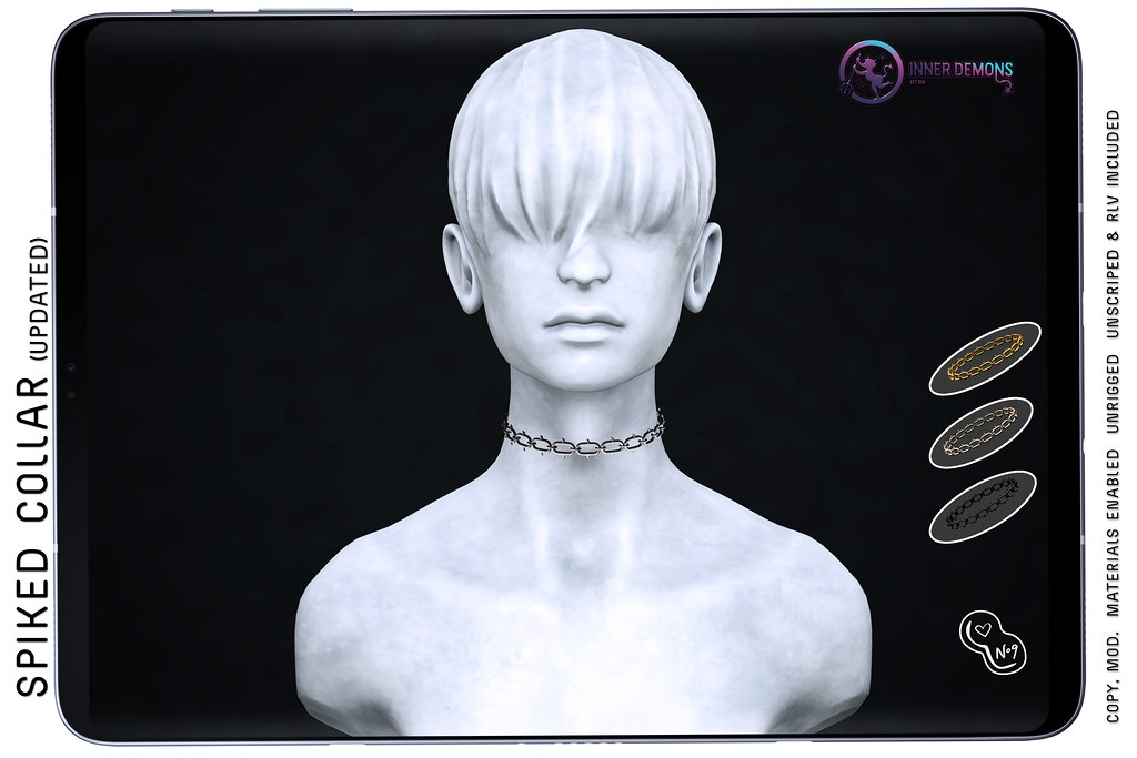 {ID} Spiked Collar (Updated)