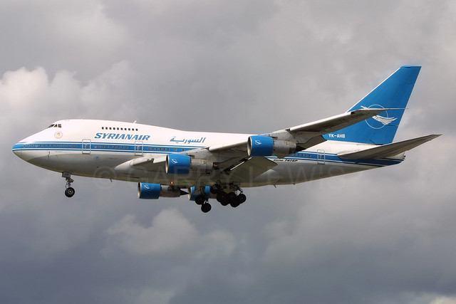 SyrianAir Boeing 747SP YK-AHB