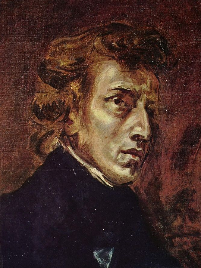 Painting of Frederic Chopin by Eugene Delacroix, 1838