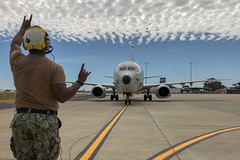 In this file photo, a a P-8A Poseidon from Patrol Squadron (VP) 45 prepares to take off for an exercise Cobra Gold training event in Thailand last month. (U.S. Navy/MCSN Thomas A. Higgins)