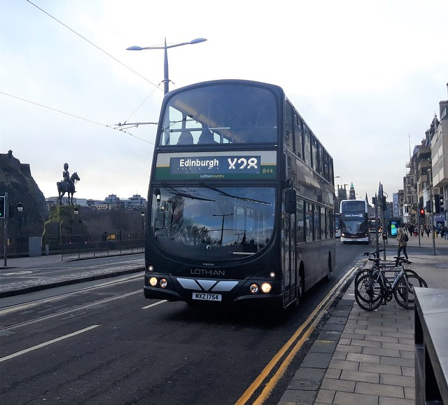 MXZ1754 (Wright Eclipse Gemini #844- Lothian Country) Princes Street