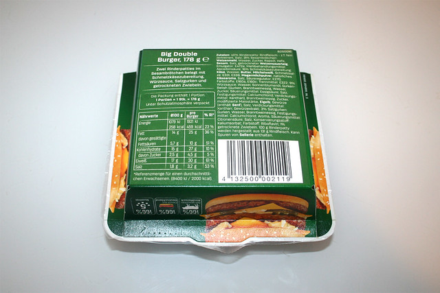 02 - Time4Taste Big Double Burger - Verpackung Rückseite / Packaging back