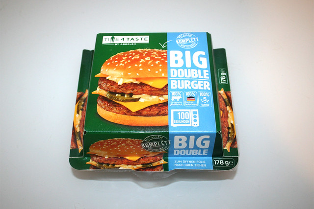 01 - Time4Taste Big Double Burger - Verpackung Oberseite / Package top