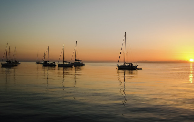 Sunrise in Stromboli