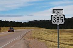 US385 North Sign at SD87