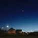 Suburban Twilight: Moon and Venus