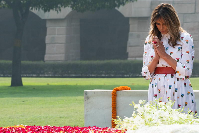 President Trump and the First Lady in India