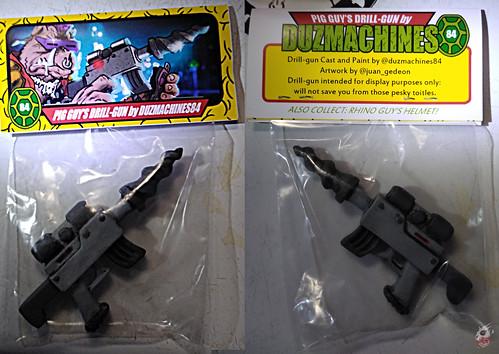 Duzmachines84 :: Rhino Guys Helmet & Pig Guy's Drill Gun ix / Drill pack  (( 2020 ))