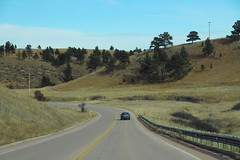 US385 North Wind Cave NP - Curve Left