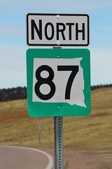 SD87 North Sign - Green Background