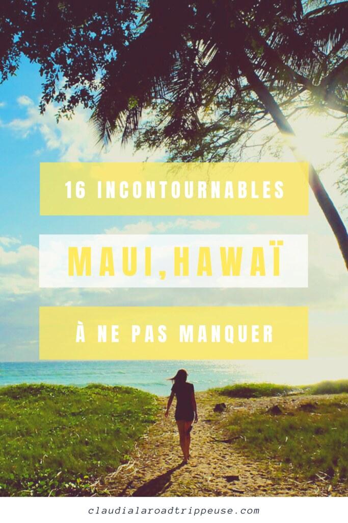 Maui, Hawaï canva pour Pinterest