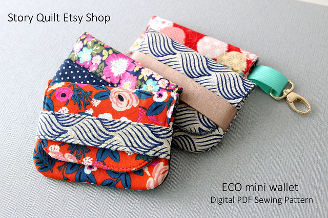 ECO Mini wallet sewing tutorial | sewin pattern