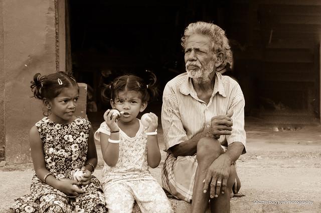 Girls and Grandpa
