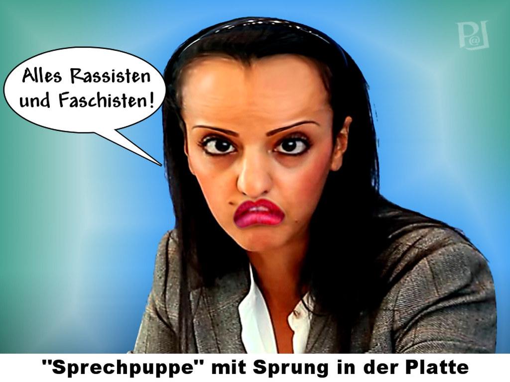 Sprechpuppe Sawsan Chebli