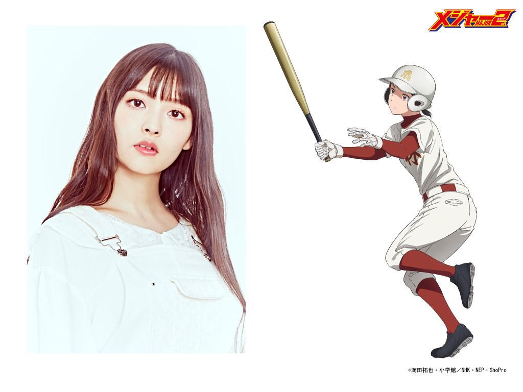 200228 -「上坂すみれ×村川梨衣」加入先發!NHK動畫《棒球大聯盟 MAJOR 2nd》第二期發表第3批聲優、於4/4放送!