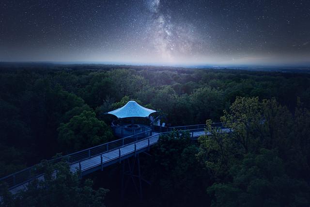 Sternenhimmel über Nationalpark Hainich