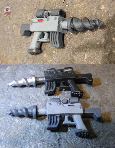 Duzmachines84 :: Rhino Guys Helmet & Pig Guy's Drill Gun xiv / ..with 2013 'Classics' Drill  (( 2020 ))