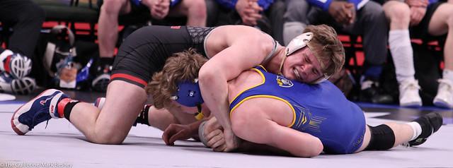195 - Justin Nelson (Bemidji) over Owen Vike (St. Michael-Albertville) Fall 1:08 - 200227bmk0079