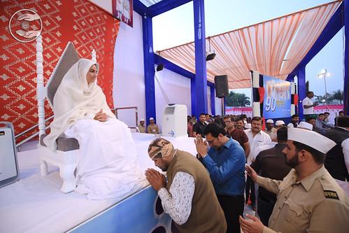 Saint seeking blessing for the welfare
