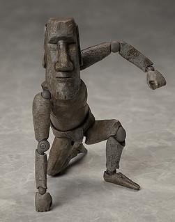 神秘雕像化身超可動戰士!figma『桌上美術館-分館-』第一彈:摩艾石像(モアイ像)