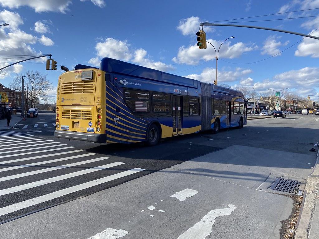 2018 New Flyer XN60 1055 - Bx36 To Washington Heights G W Bridge