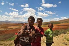 trois garçons du Lesotho