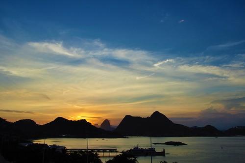 bay sunset pôrdosol silhuetas silhouettes baíadaguanabara