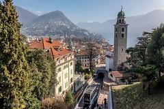Lugano (CH-TI). City Center and funicolare.