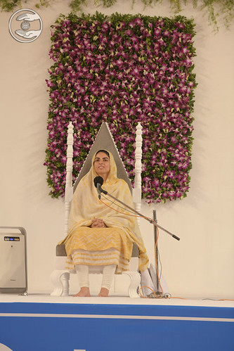Her Holiness blessed the devotees