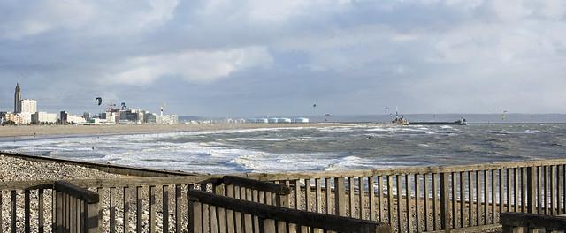 Panorama Plage du Havre Normandie France