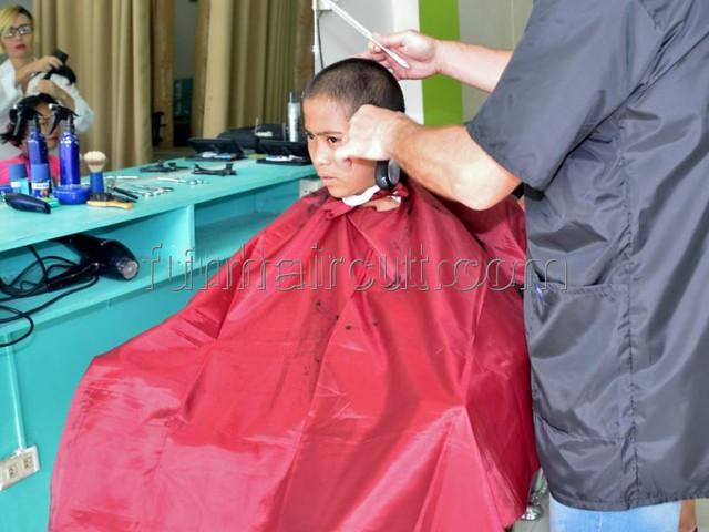 MARISOL a young barbershop girl haircut