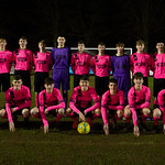 Under 17s squad in the new away kit